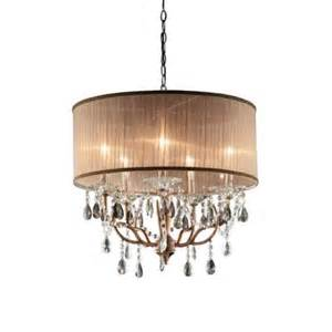 ok lighting 5 light antique brass rosie crystal ceiling