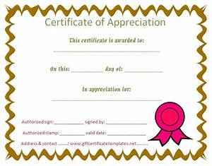 Student certificate of appreciation - Free Certificate ...