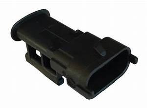 Bosch 3 Way Black Kompakt 2 8 Sealed Male Connector