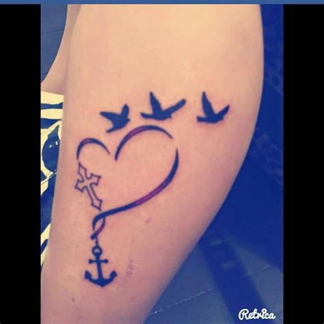 57+ Cute Anchor Heart Tattoos