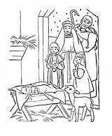 Jesus Coloring Pages Manger Nativity Sheets Christmas Depiction Printable Bible Story Lay Worksheets Colour Angels Birthday Happy Cartoon Place sketch template