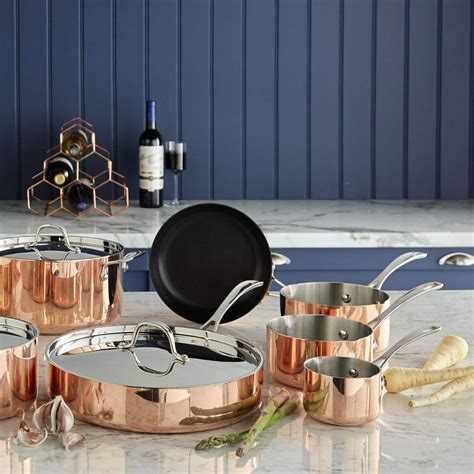 copper aldi pans kitchen crofton pan frying wow factor give 24cm ideal