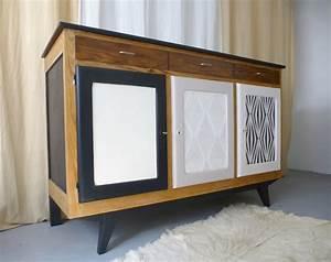 Buffet Enfilade Vintage : buffet enfilade vintage scandinave bois noir et blanc d 39 cosmose ~ Teatrodelosmanantiales.com Idées de Décoration