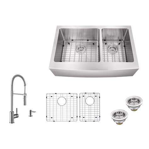 c tech sinks distributors ipt sink company apron front 32 7 8 in 16 gauge stainless