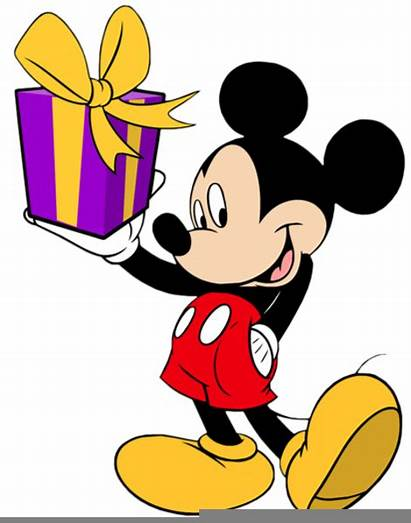 Clipart Mickey Mouse Birthday Present Disney Clip