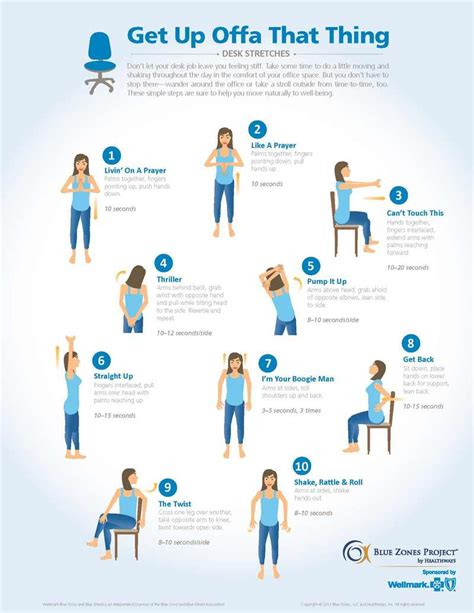 exercises to do at your desk with pictures ergonomics in the office research ttu