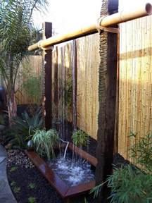 mur de bambou exterieur d 233 coration de jardin avec une fontaine pour bassin archzine fr