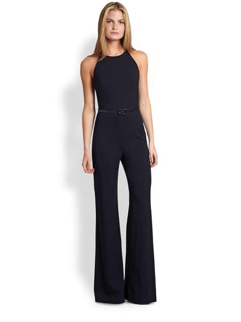 black s jumpsuit ralph black label nickelby jumpsuit in black lyst