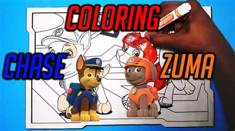 coloring chase  zuma  paw patrol youtube