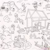 Miller Coloring Fabric Construction Michael sketch template