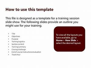 end of course evaluation template - instructor led template ppt download