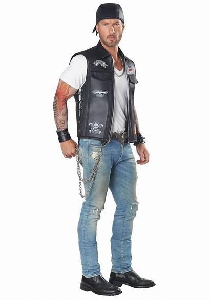 Biker Costume Vest Adult Halloween Motorcycle Costumes
