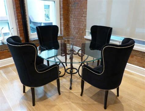 awesome black wing  dining chair   glass