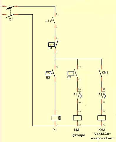 schema electrique chambre froide les régulations site des passionnés froid climatisation