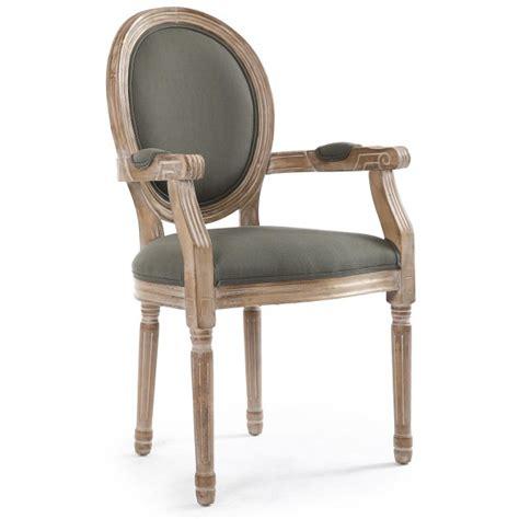 lot de 2 chaises avec accoudoirs orion tissu gris coin