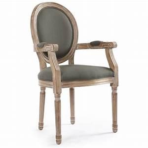 Chaise Avec Accoudoir But : lot de 2 chaises avec accoudoirs orion tissu gris coin du design ~ Teatrodelosmanantiales.com Idées de Décoration