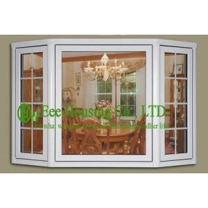 melamine kitchen cabinets pvc bay windows with clear glass for villas apartment 4056