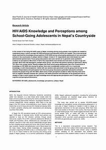 (PDF) PERCEPTION TOWARDS HIV/AIDS AND SEXUAL BEHAVIOUR ...