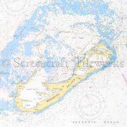 Outdoor Indoor Rugs by Islands Bermuda Island Hamilton Nautical Chart Decor