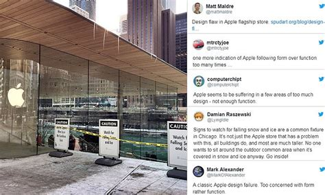 apple s fancy new flagship store in chicago beset with problems because the roof wasn t