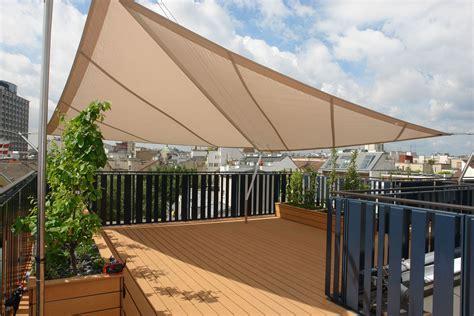 Sonnenschutz Für Terrassen by Dachterrasse Sonnensegel Rollsegel Beschattung Garten
