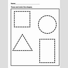 Shapesworksheetsforkidstracing  School  Shapes Worksheets, Shape Worksheets For