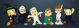 Alvin And The Chipmunks Halloween by Chibi Munks Halloween By Boredstupid100 On Deviantart