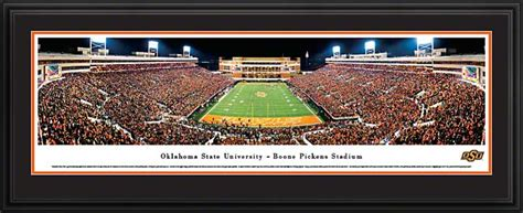 oklahoma state cowboys framed panoramic poster print