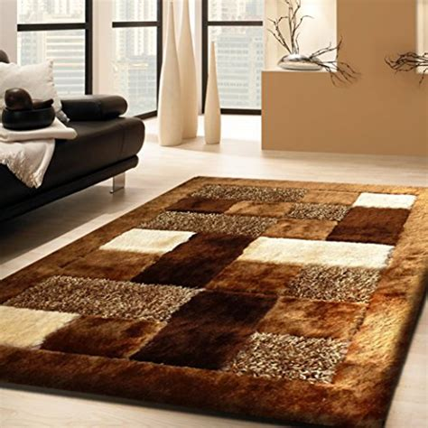 rug area brown shag shaggy beige tufted hand room living pile thickness rugs inch carpet contemporary cream ft amazon silky