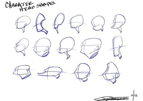 character head shapes   draw   character