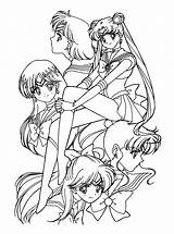 Sailor Coloring Moon Pages Animal sketch template