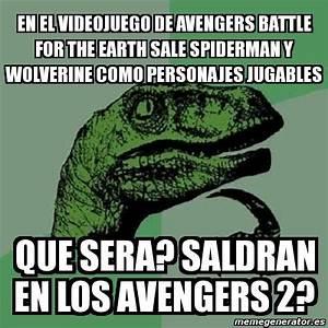 Meme Filosoraptor - en el videojuego de avengers battle