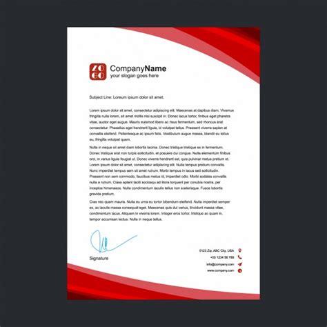 red letterhead design vector