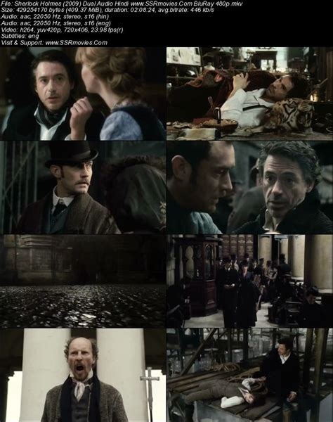 Detective sherlock holmes and his stalwart partner watson engage in a battle of wits and brawn with a nemesis whose plot is a threat to all of england. Sherlock Holmes (2009) Dual Audio Hindi BluRay 480p 400MB ...