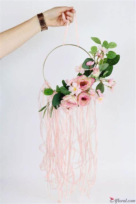 diy floral hoop wreath diy wedding spring wedding