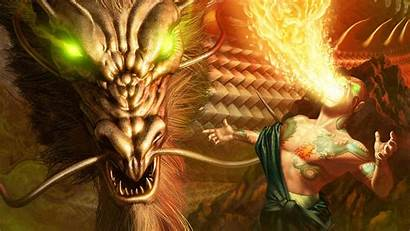 Sorcerer Wizard Dragon Background
