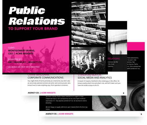 public relations proposal template  sample proposify