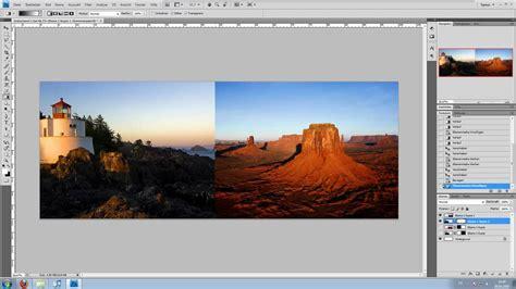 adobe photoshop tutorial bilduebergang  bilder