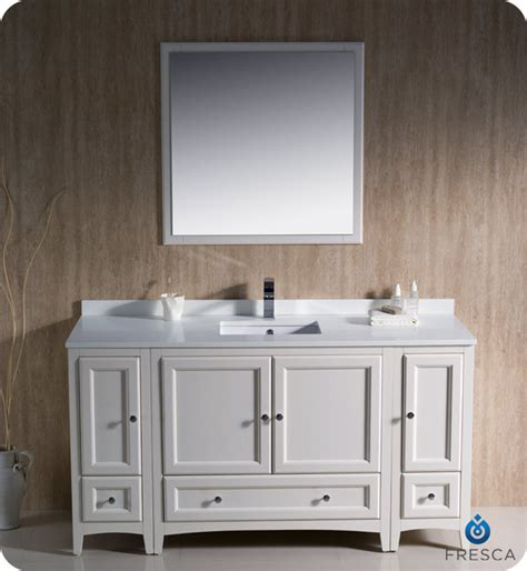 60 Inch Modern Bathroom Vanity Single Sink by 60 Quot Oxford Single Vanity White Fvn20 123612aw Modern