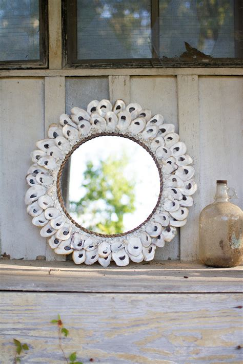oyster shell mirror large
