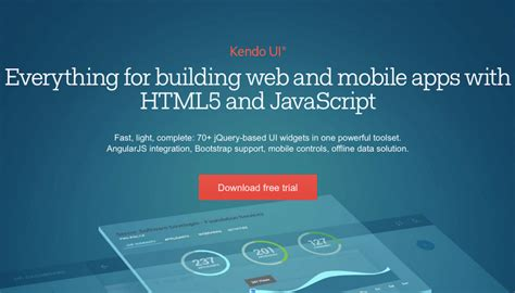kendo ui mobile application best mobile app frameworks that use javascript html and