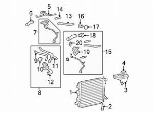 Ford Mustang Hose  Coolant  Overflow  Engine  5 4 Liter  5