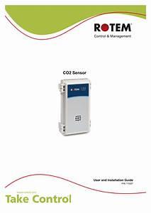 Rotem Co2 Sensor For Platinum Plus Installation User Guide