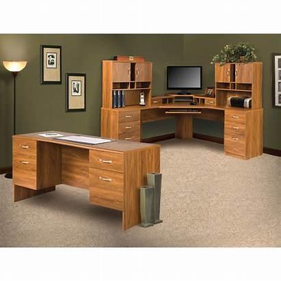 Desk Computer Office Hutch Shape Leavy Furniture