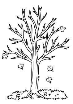 bare tree coloring page halloween tree coloring page