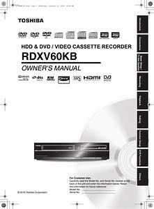 Toshiba Rdxv60 Users Manual