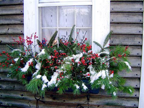 winter window box christmas pinterest