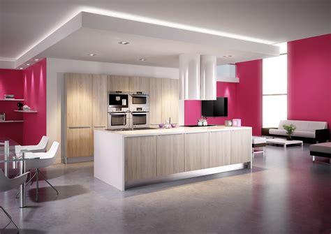 changer les portes de sa cuisine cuisine modèle cottage en stratifié décor bois cuisine