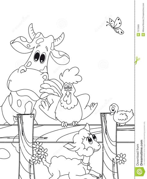 farm animal cartoon stock illustration illustration