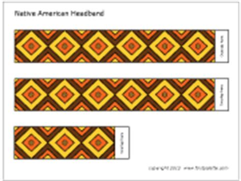 Indian Headdress Template by American Headband Printable Templates Coloring